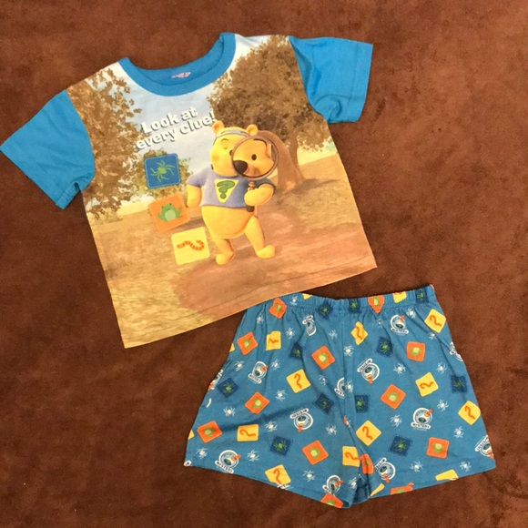 4bf600c920a3 Disney Other - Children s Winnie The Pooh Pajamas Shorts   Shirt